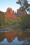 Cathedral Rock With Reflection Royalty Free Stock Photography