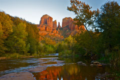 Free Cathedral Rock With Reflection Royalty Free Stock Photography - 14027467