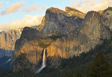 Cathedral Rocks & Bridalveil Falls Stock Image