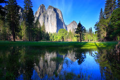 Cathedral Rocks Reflection Royalty Free Stock Photos