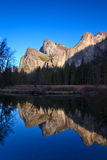Cathedral Rocks Reflections Stock Image
