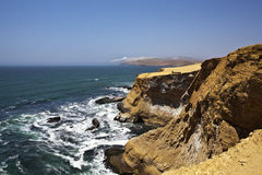 The cathedral rocks  - Reserva National de Paracas national park in Ica Peru, South America Stock Photography