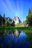 Cathedral Rocks and Sky Reflecting Royalty Free Stock Photo