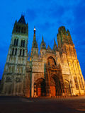 Cathedral of Rouen at evening Royalty Free Stock Images