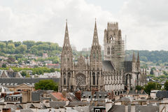 Cathedral in Rouen, France Stock Photos
