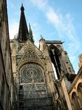 Cathedral in Rouen, France stock photo
