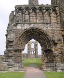 Cathedral Ruins St. Andrews UK. Ancient Cathedral Ruins in St. Andrews Scotland stock images