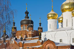Cathedral in Russia. Christianity Cathedral in Russia,  Kostroma city, Bogoyavlensky female monastery Stock Photo