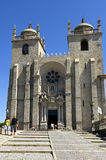 Cathedral Sé do Porto and tourists, Portugal Royalty Free Stock Photography
