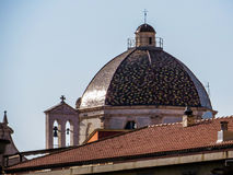 Cathedral's dome and Bell Tower, Cagliari Stock Image
