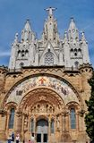 Cathedral Sacred Heart on mountain Tibidabo Royalty Free Stock Images