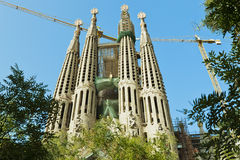 Cathedral Sagrada Familia Royalty Free Stock Images
