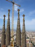 Cathedral Sagrada Familia In Barcelona Royalty Free Stock Image