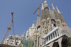 CATHEDRAL SAGRADA FAMILIE CONSTRUCTION WORK Stock Photo