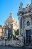 Cathedral of Saint Agata from Piazza Duomo, Catania, Sicily, Italy royalty free stock image