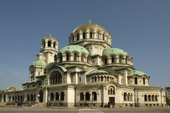 The Cathedral of Saint Alexandar Nevski in Sofia Royalty Free Stock Photography