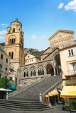 Cathedral of Saint Andrew or Duomo di San Andreas. Amalfi, Campa Stock Images