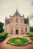 Cathedral of Saint Barbara in Kutna Hora Stock Photos