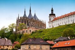 Cathedral Saint Barbara in Kutna Hora Stock Photography