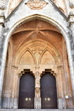 Cathedral Saint Bartholomew in town Soller,Mallorca island. Cathedral Saint Bartholomew in town Soller stock photos