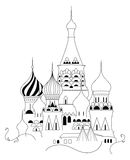 Cathedral of Saint Basil. The Blessed at the Red Square of Russia in Moscow Stock Photography