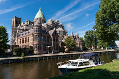Cathedral of Saint Bavo in Haarlem. Netherlands Stock Images