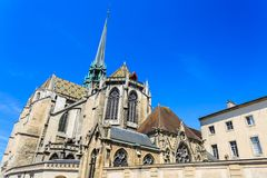 Cathedral of Saint Benigne in Dijon. Stock Photo
