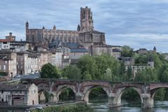 Cathedral of Saint Cecilia of Albi stock photo