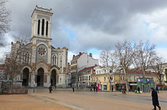 Cathedral of Saint Charles Borromeo in Saint Etienne, France Stock Photography