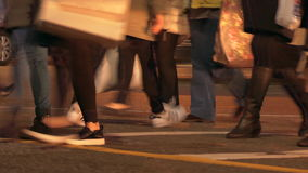 Cathedral of Saint Demetrius. People crossing street evening Vancouver stock video