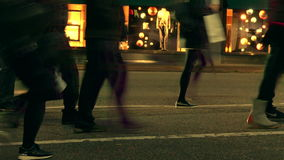 Cathedral of Saint Demetrius. People crossing street Vancouver Canada stock footage