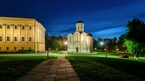 Cathedral of Saint Demetrius in Vladimir. stock photography