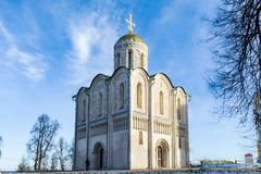 Cathedral of Saint Demetrius 1191 in Vladimir, Russia royalty free stock photos