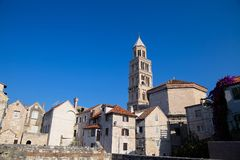 Cathedral of Saint Domnius and Diocletian Palace in Split, Dalmatia, Croatia. Cathedral of Saint Domnius and Diocletian Palace in Split, Dalmatia, Croatia Royalty Free Stock Image