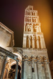 Cathedral of Saint Domnius at night Stock Photography