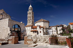 Cathedral of Saint Domnius, Split. Cathedral of Saint Domnius (Saint Duje Cathedral) and the Dioclesian's Palace in the historical center - UNESCO World Heritage Royalty Free Stock Photography
