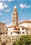 Cathedral of Saint Domnius in Split, Croatia, yellow filter Stock Images