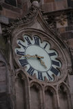 Cathedral of Saint Elizabeth in Kosice, Slovakia. Clock Stock Photos