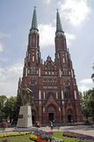 Cathedral of Saint Florian. In Praga district of Warsaw Poland Stock Images