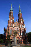 Cathedral of saint Florian in Warsaw Stock Photo
