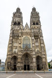Cathedral Saint Gatianus in Tours Royalty Free Stock Images