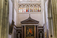 Cathedral Saint Gatien of Tours, Loire valley, France Royalty Free Stock Photos