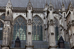 Cathedral of  Saint Gatien in Tours Stock Photos