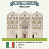 Cathedral of Saint George the Martyr. Ferrara Royalty Free Stock Photos