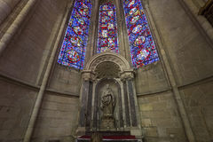 Cathedral Saint Gervais Saint Protais in Soissons, France Stock Images