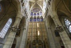 Cathedral Saint Gervais Saint Protais in Soissons, France Stock Photos