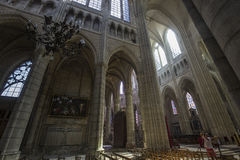 Cathedral Saint Gervais Saint Protais in Soissons, France Stock Image