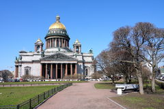 Cathedral of Saint Isaak in St Petersburg Royalty Free Stock Photography