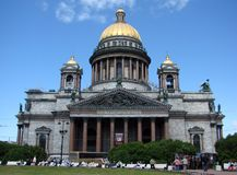 Cathedral of Saint Isaak, St Petersburg, Russia. In summer, blue sky Stock Image