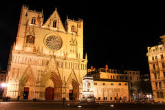 cathedral saint jean baptiste, Lyon, France Stock Images